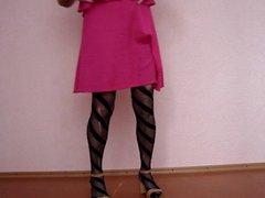 crossdresser in pantuhose
