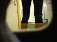 Blonde amateur teen toilet pussy ass hidden spy cam voyeur 2