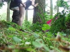 Russian blowjob in the woods