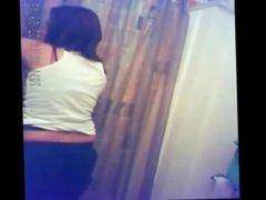Spycam Catches Her Showering