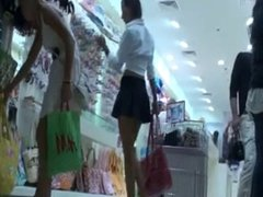 nice upskirt in a mall
