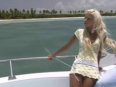 Beautiful teen blond fucked on a boat