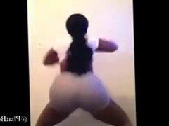 big ass ebony shaking