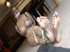 British slut gets tied up