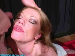UK redhead Holly Kiss gets jizzed