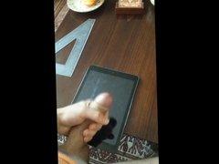 Jerking and cumming on iPad Air
