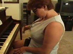 BBW Piano Teacher Fucked