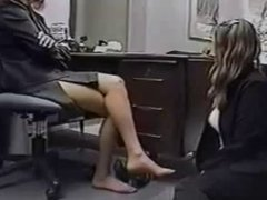 Secretary Worships Her Boss' Stinky, Mature Soles