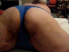 blue panties teaser