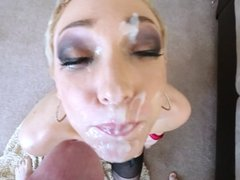 Short Blonde-Haired Honey Gets A Fat Facial