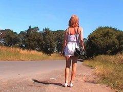 Crossdresser Strips to Her Undies in Public