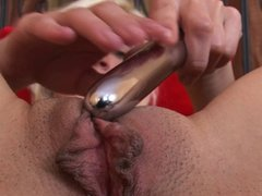 Blonde Teen Cums with Vibrator