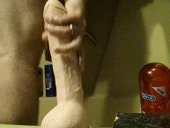 huge deep and hard anal dildo