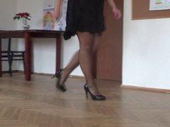 My legs in high heels