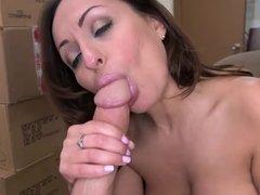 Sexy Vanessa Luna blowjob and cumshot POV