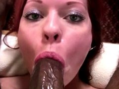 redhead girl gets facefuck by bbc