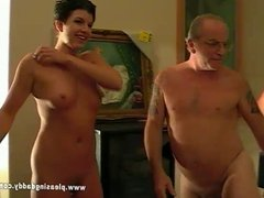 Black Haired Slut Maxxx Suck Old Cock