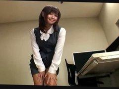 japanese office girl nylon feet
