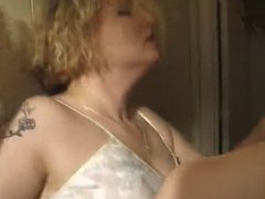 Chunky Blonde Nymph Fucks All Over The House
