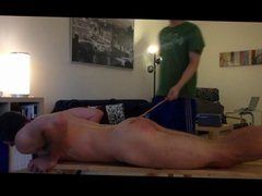 Nude Boy Caned For Insolence
