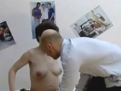 Shaved Pregnant Plain Jane Gets Dirty
