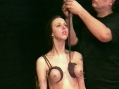 Piercing fetish and extreme bdsm of enslaved Emily X in hard