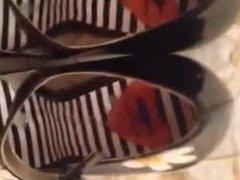 Preparing my slut's new shoes