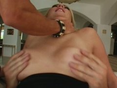 Double up for a blonde Czech MILF