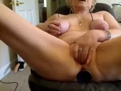 See what this dirty old whore is doing on webcam. Amateur