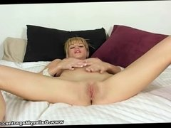 Busty Blonde Angie Savage Sex Toy Masturbation
