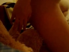 teen fucks teddy bear on webcam