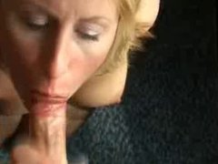 Busty Blonde British Escort Gets a Facial