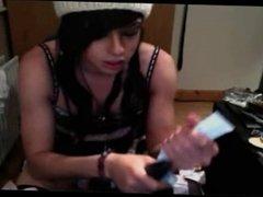 Webcam teen TS stroking - Kittyxxxpink