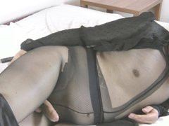 My fun in pantyhose with my dildo v3