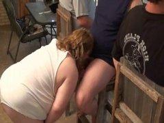 Mature BBW Sluts Sucking Cock in Group Fun