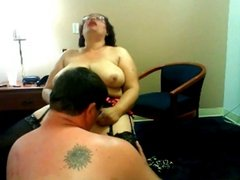 BBW fingered by her husband