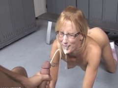 Cumshot In The Locker Room