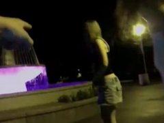 Amateurs Two girls masturbate outside