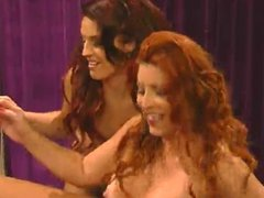 Redheaded Milf in Lesbian Group sex