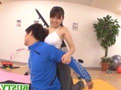 Sporty girl Anna Natsuki
