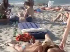 Amateur blowjob in Public Beach