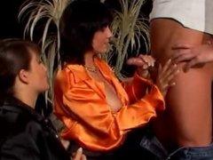 Satin Blouse Threesome