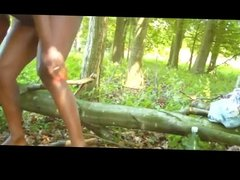 Ebony Babe Squirting Outdoor BVR