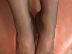 Sexy Wife pantyhose footjob 3 part 2