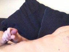 Big hot cum on my chest - Angle 1