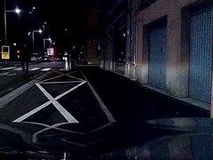 Crossdresser upskirted flashing in town