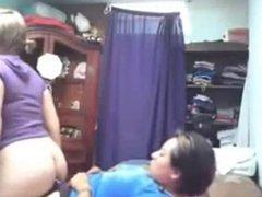 Caught my lesbian sister fucking her girlfriend. Hidden cam