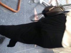 Nice ass in black dress see thru