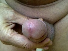 ANOTHER NICE FORESKIN COCK WANK AND CUM