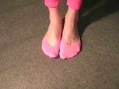 sexy feet in pink peds